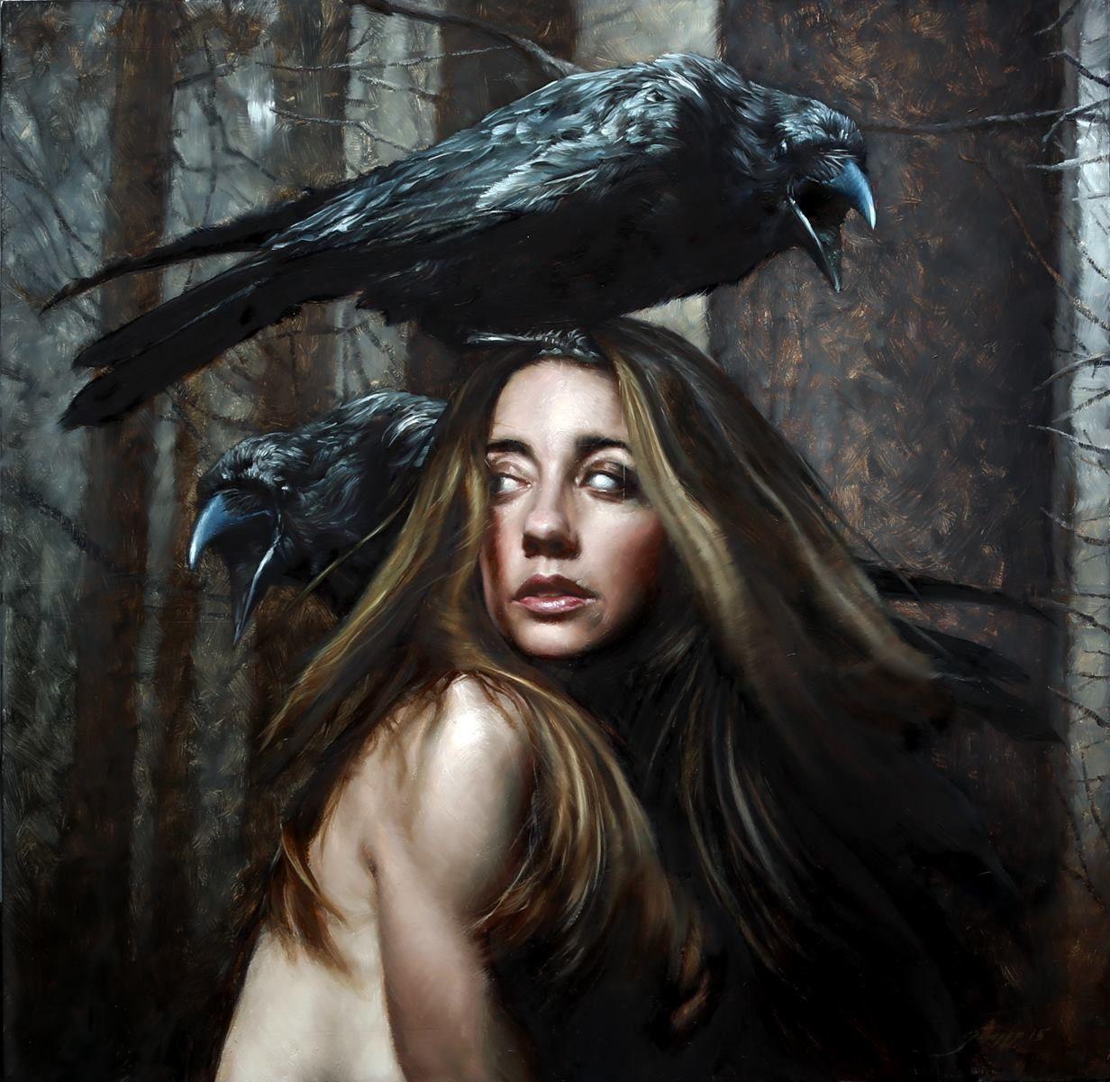 12 Hrs Grasso Woden Victor Grasso In 2019 Art Crow Art