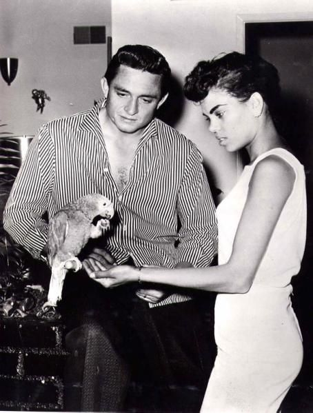 Johnny Cash and his first wife, Vivian Liberto.