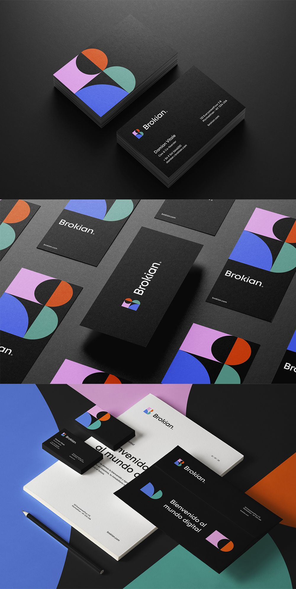 Brokian Business Card Business Card Design Inspiration In 2021 Business Card Design Modern Business Cards Business Card Design Inspiration