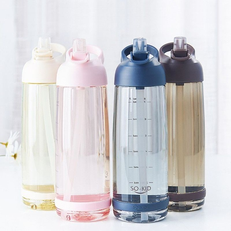 Details about  /Sports Water Bottle BPA Free 500ML 1000ML Protein Shaker Outdoor Travel Portable