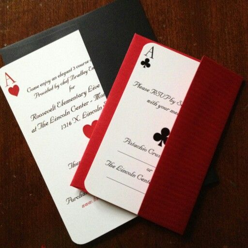 The casino royale invitations we did for the Roosevelt Elementary - fresh invitation making jobs