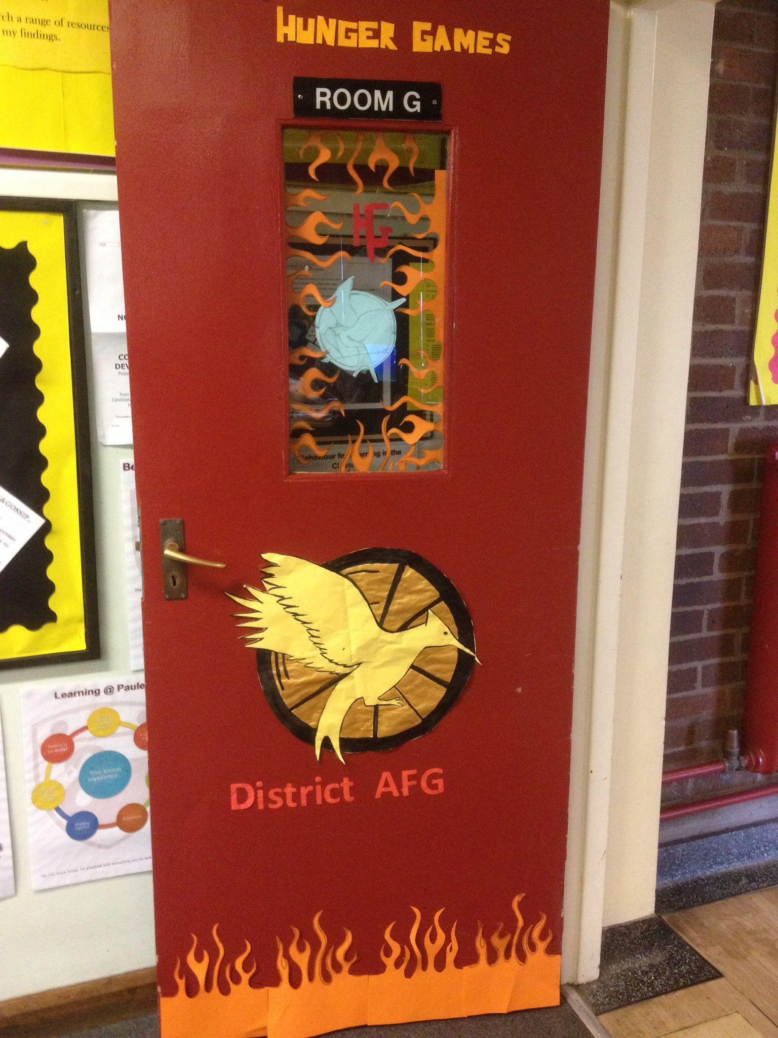 Hunger Games Door School Fun Classroom Books Ks2