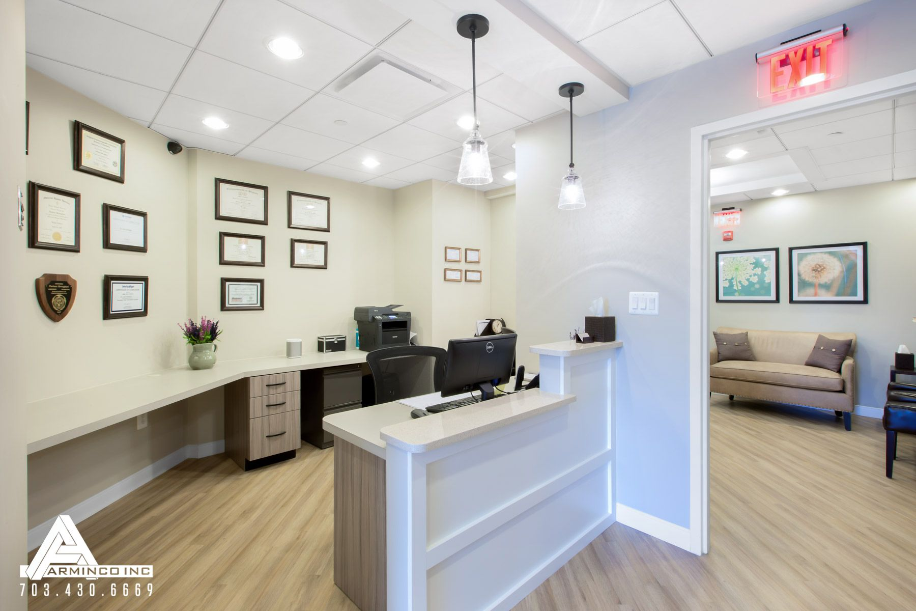 dentist office design. Simple And Bright Patient Check-out Area. Dental Office Design By Arminco Inc. Dentist