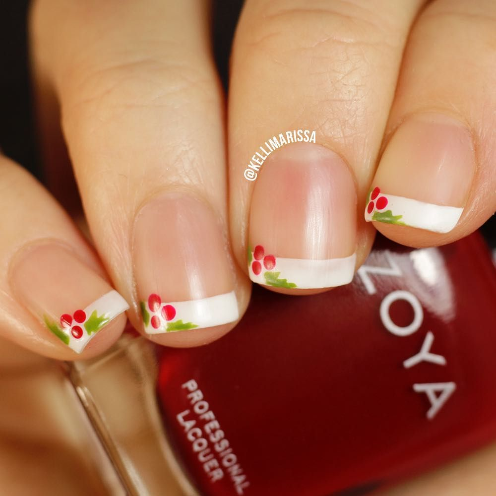 My first holiday nail art of the year i love this super simple