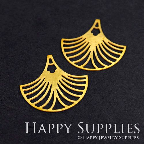 Quality Upgrade - Exclusive -Raw Brass Fan Geometry Charm / Pendant, Fit For Necklace, Earring, Brooch (RD271) by happysupplies on Etsy https://www.etsy.com/nz/listing/472852973/quality-upgrade-exclusive-raw-brass-fan