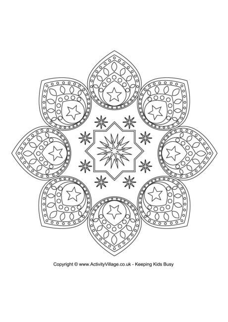 EID DESIGN colouring page, FREE download | ✐☸ Mandalas~Rangoli ...