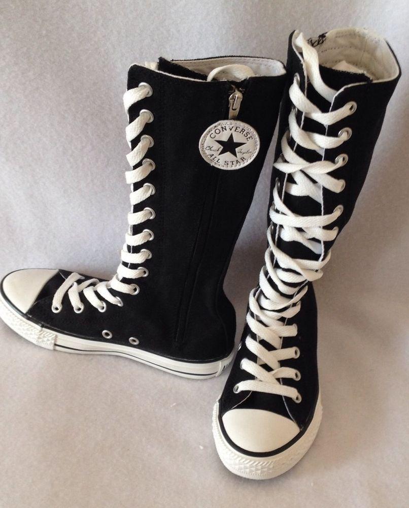 Converse All Star Girls CT XHI Tall Black 11 New In Box