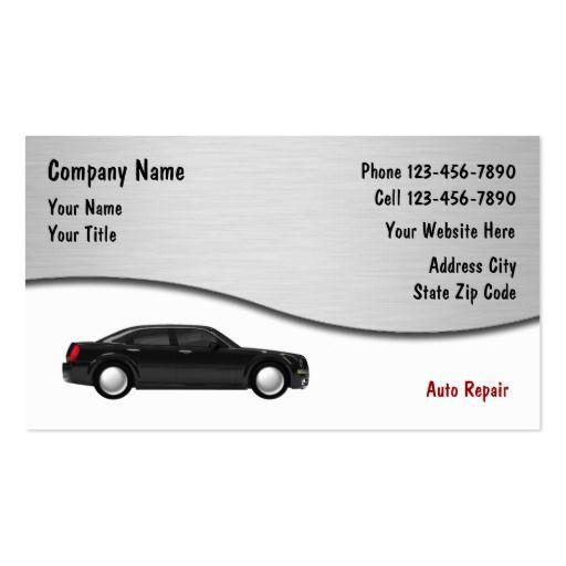 Auto Repair Business Cards Auto Repair Repair Auto Insurance