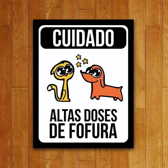 Placa Altas Doses De Fofura Usq Usq016 Placas Placas