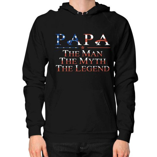 Daddy the legend Hoodie (on man)