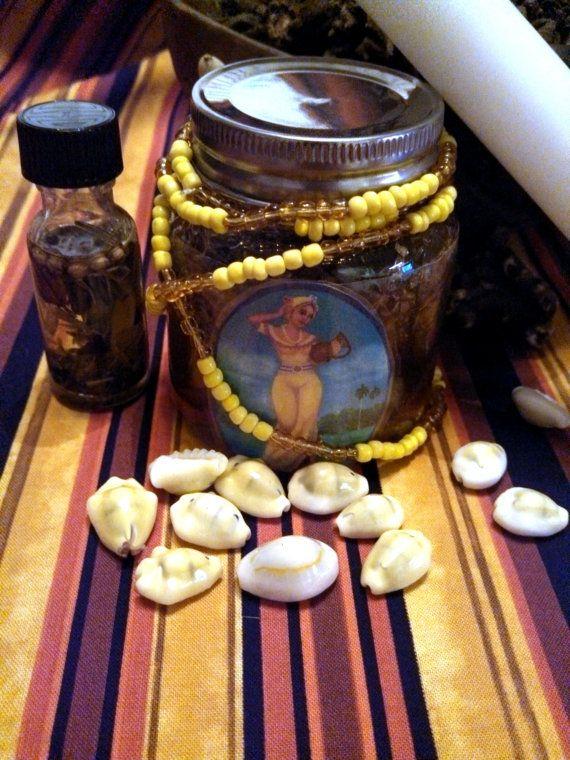 Oshun, Honey Jar, Ritual, Altar, Candle , Orisha, Hoodoo, Conjure