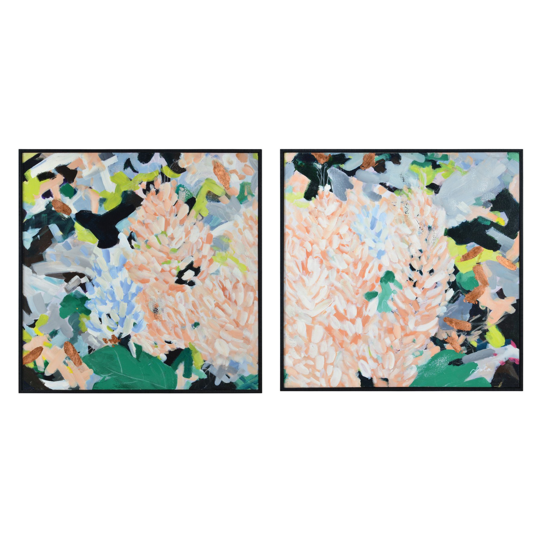 Renwil Fielding Framed Hand Painting Canvas Wall Art  Set Of