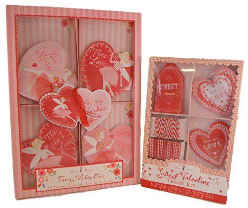 Meri Meri Valentines Kits Valentine Cards  Treat Kit  http