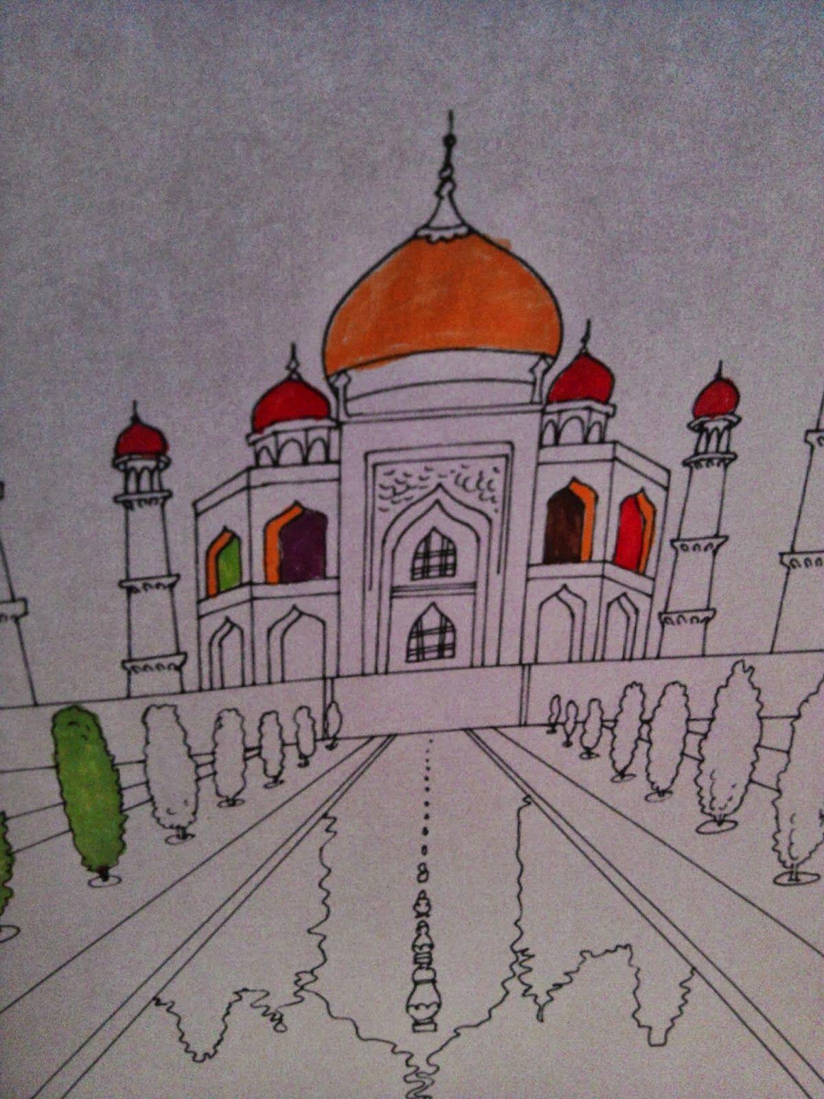 Inde coloriage l 39 inde inde voyage inde et coloriage - Coloriage inde ...