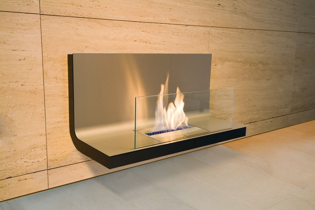Cool But Wouldn T Want It Contemporary Wall Mounted Fireplace Bioethanol Open Hearth W Modern Fireplace Contemporary Fireplace Fireplace Modern Design