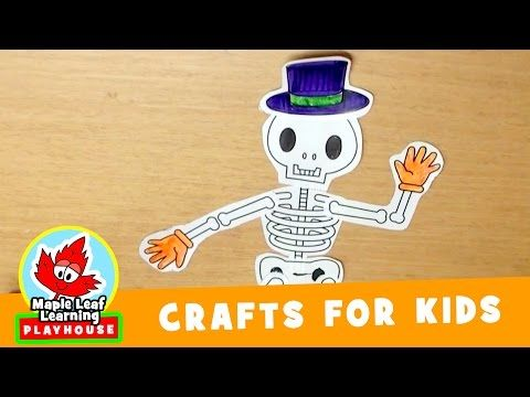 skeleton halloween craft for kids maple leaf learning playhouse youtube - Halloween Youtube Kids