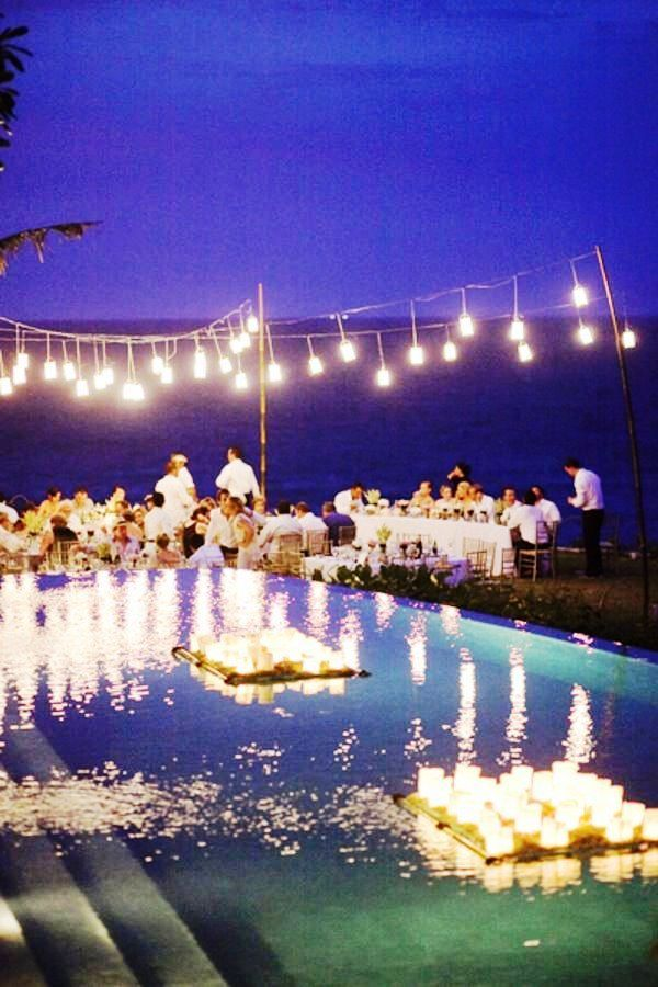 Pool Wedding Decoration Ideas 15 pool decor ideas for your backyard wedding 20 Pool Wedding Decoration Ideas To Try On Your Wedding