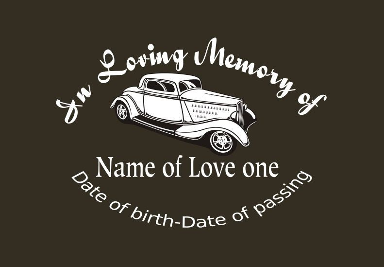 Hotrod memory decal in loving memory car decal custom memory auto decal by inspirationaldecals