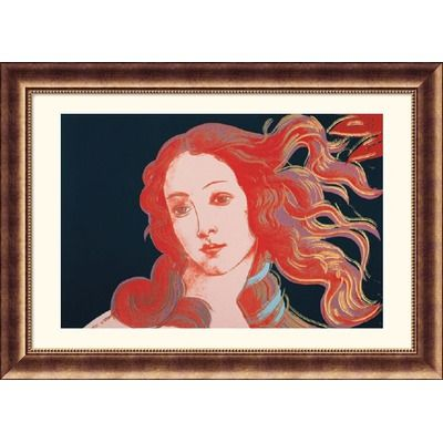 Great American Picture Details of Renaissance Paintings (Sandro Botticelli, Birth of Venus, 1482), 1984 Bronze Framed Print - Andy Warhol