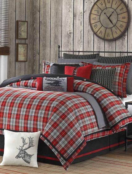 Unfading Plaid Interior Design Files Home Cabin Decor Christmas Bedroom