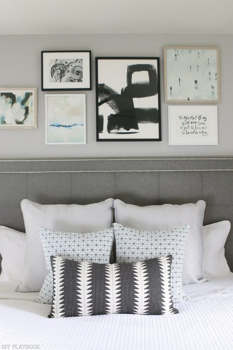 Master bedroom gallery wall  How to Hang a Gallery Wall over the Bed in your Home  Gallery wall