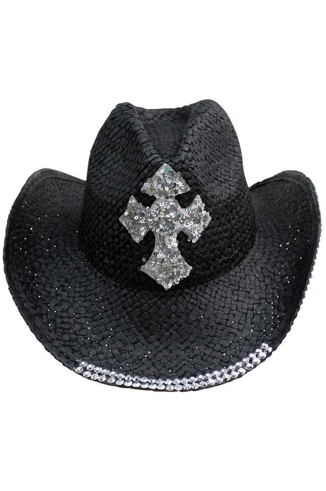 Elee Women Wide Brim Western Cowboy Hat Cowgirl Ladies Party Church Costume Cap