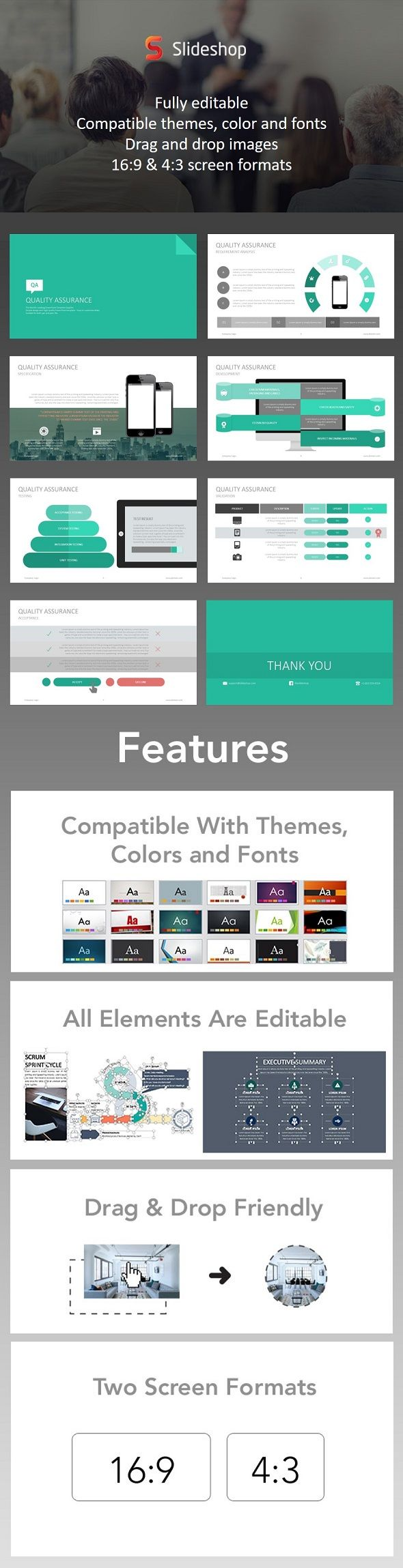 Quality assurance google style presentation templates template quality assurance google style powerpoint templates presentation templates toneelgroepblik Image collections