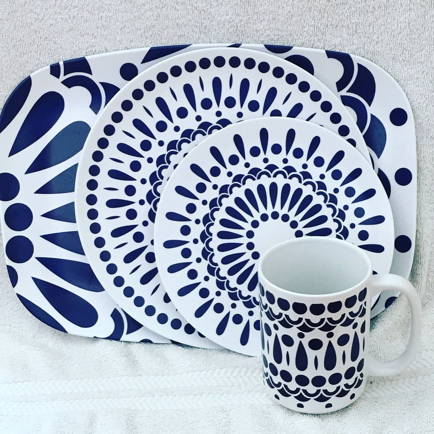 Byzantine Collection( Navy Combo) Plates and Platters made of break resistant Melamine. Dishwasher  sc 1 st  Pinterest & Byzantine Collection( Navy Combo) Plates and Platters made of break ...