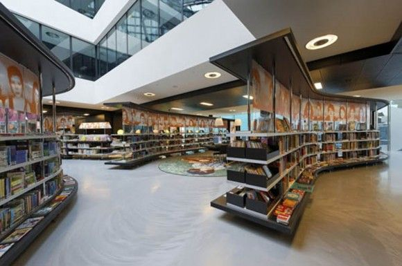 Modern Netherlands Library Designs With Clean And Clear Interior