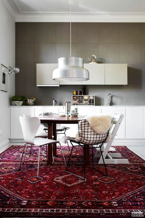 Traditional Rug In The Kitchen  7 Rugs That Really Tied The Room Delectable Dining Room Rugs 2018