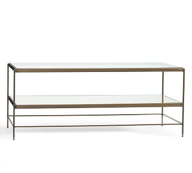 Leona Metal Rectangular Coffee Table Brass Premium InHome - Pottery barn leona coffee table
