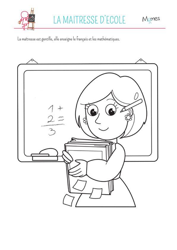 La Maitresse D Ecole Coloriage Enfant Coloriage Coloriage Ninjago