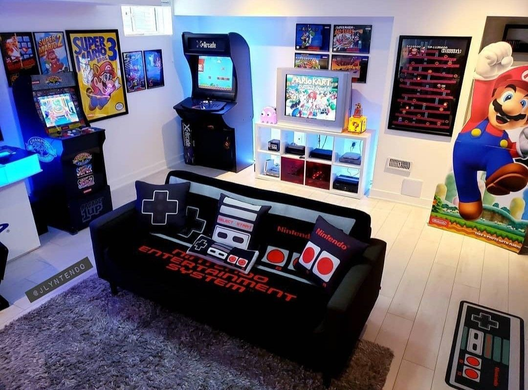 Kate lester the family that games together, stays together, right? Nintendo Gamer Room | Retro games room, Video game rooms ...