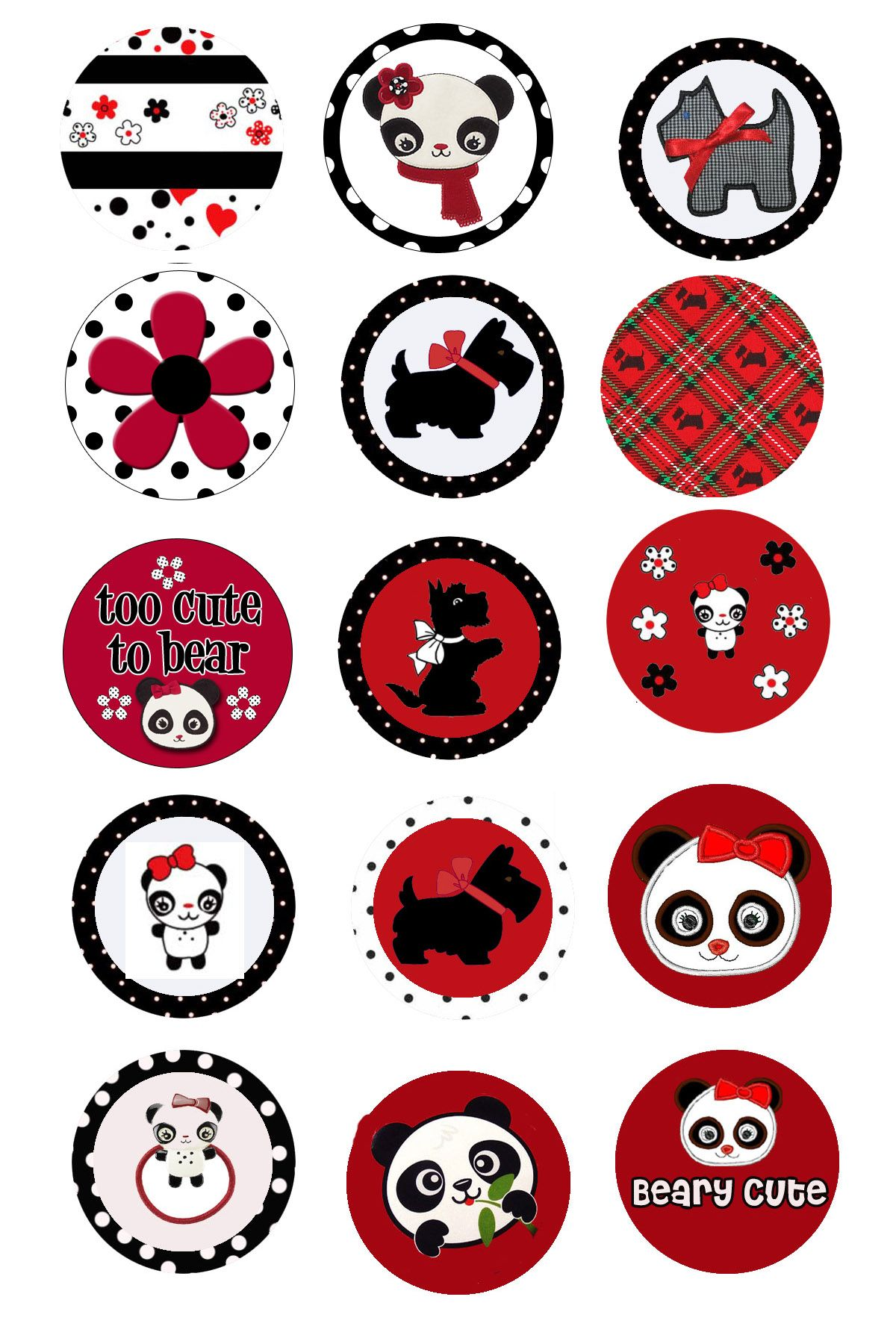 panda bottle cap designs printables pinterest panda