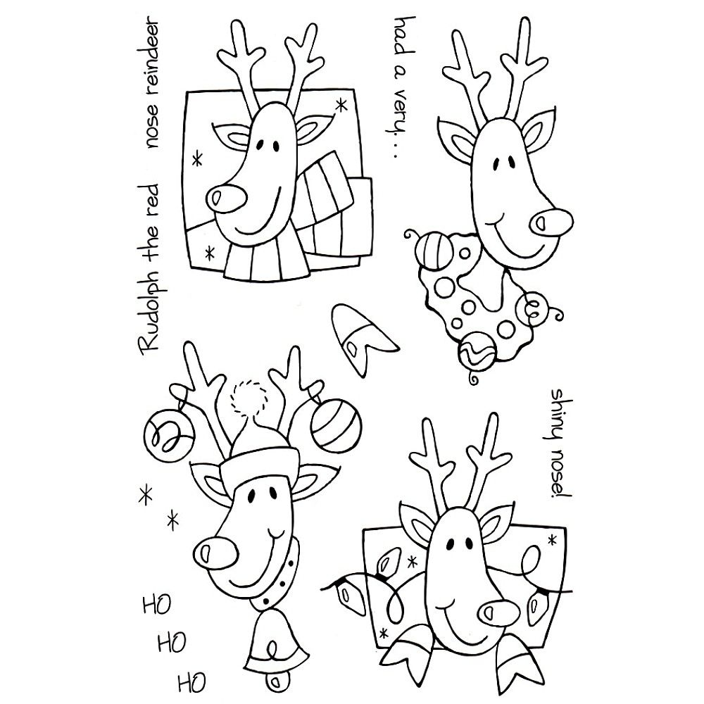 Clear Magic Stamp Set Rudolph
