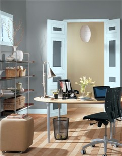 best office wall colors. BM Shaker Gray For Office? Best Office Wall Colors Z
