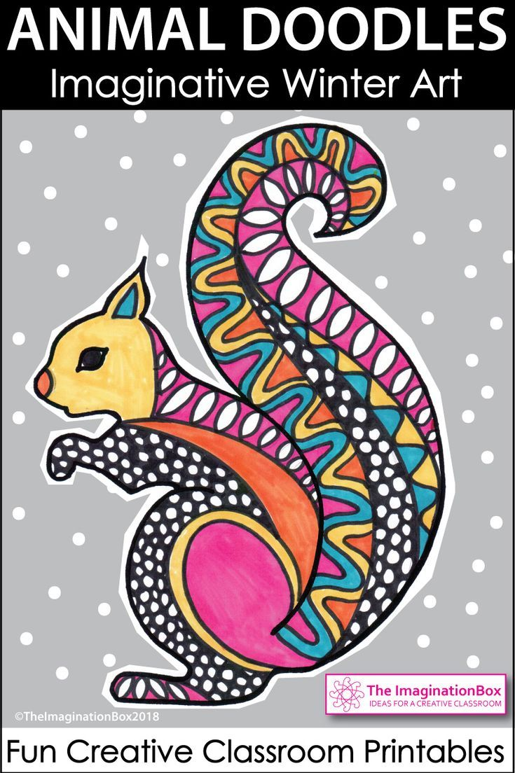 Winter Coloring Pages Animal Art & Writing Activities