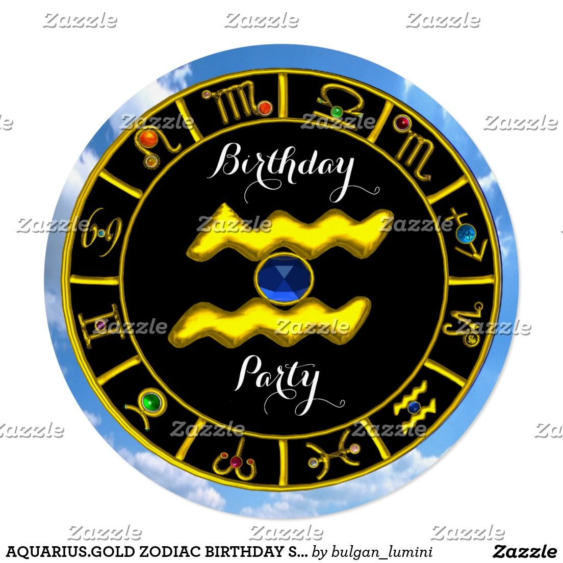 Aquariusgold zodiac birthday signastrology chart card by bulgan gold zodiac birthday signastrology chart card by bulgan lumini c nvjuhfo Image collections