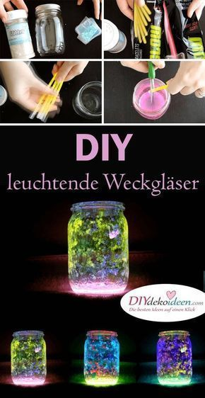 Photo of With this trick your DIY lantern decoration made of mason jars will light up!