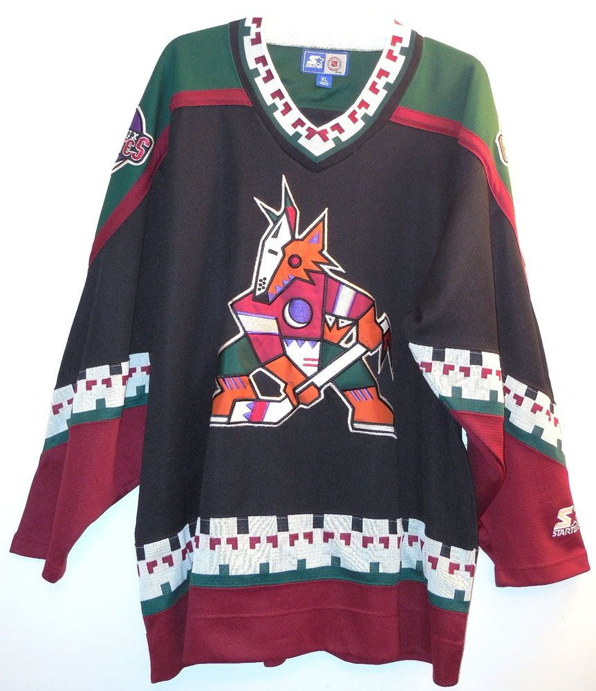 competitive price ded99 48605 Vtg 90's Authentic PHOENIX COYOTES Jersey sz XL Starter NHL ...