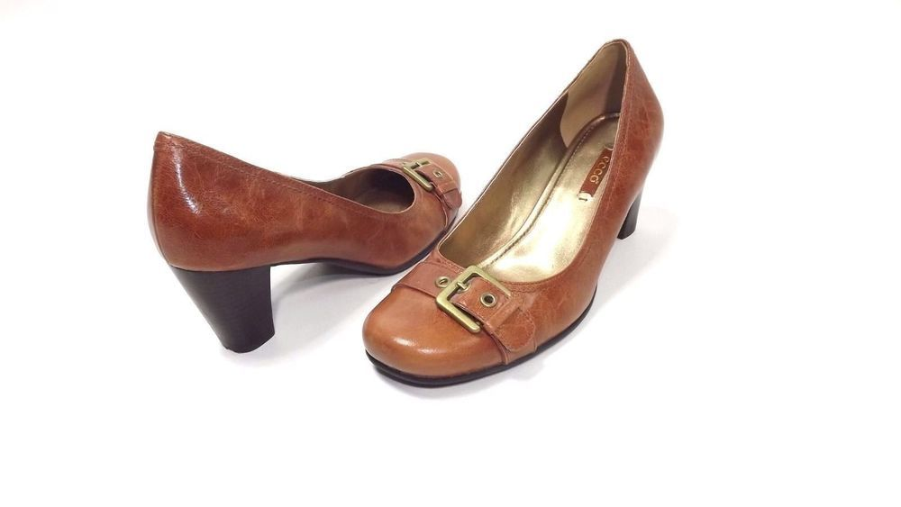 ECCO womens shoes size 39 EU 8.5 - 9 US Tan Low Heel Pumps shoes w