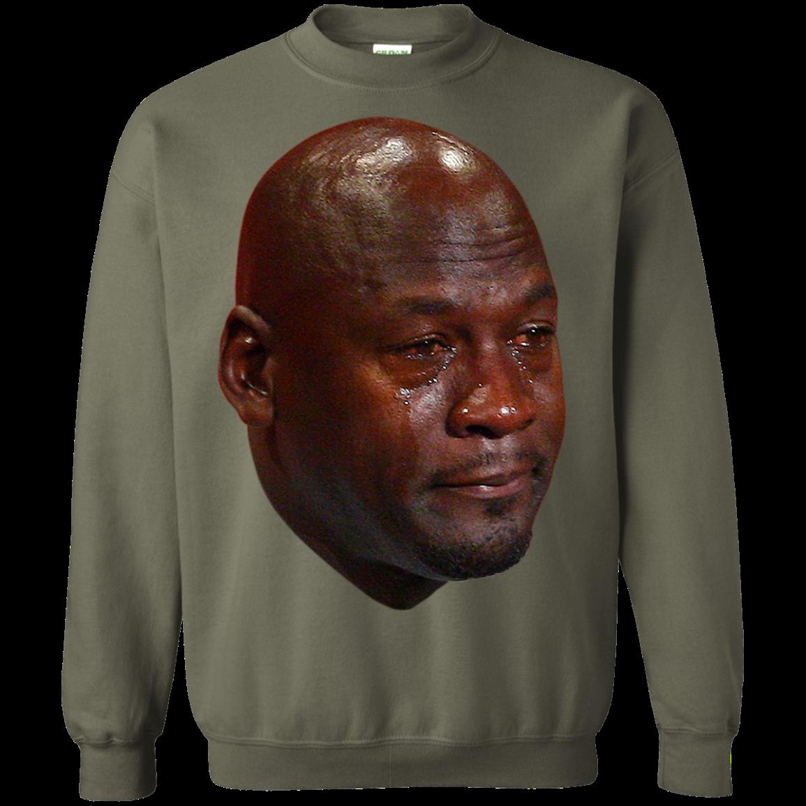 Crying Jordan Sweatshirt Jordan sweatshirt, Sweatshirts