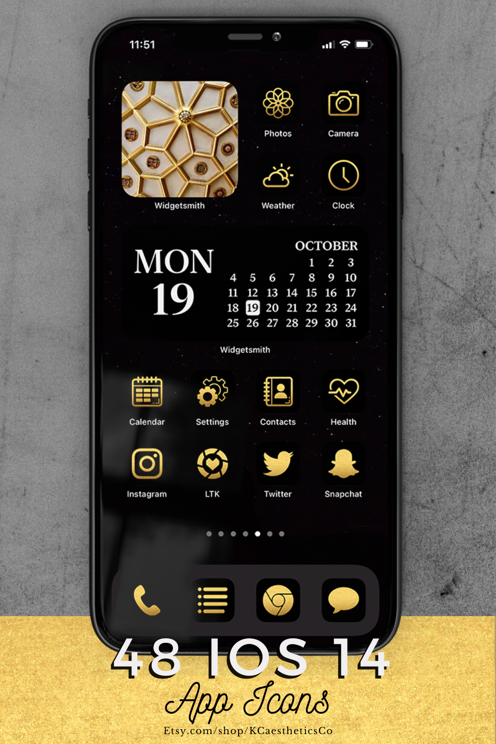 Black And Gold Ios 14 Icons Ios 14 Aesthetic Gold App Icons Iphone Icons App Icon Gold App Homescreen