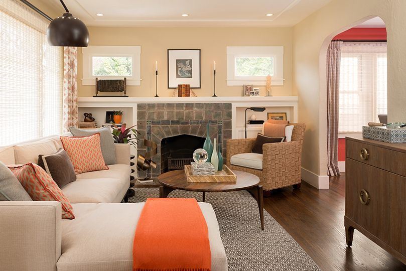 California Bungalow Remodel With Images Bungalow Living Rooms
