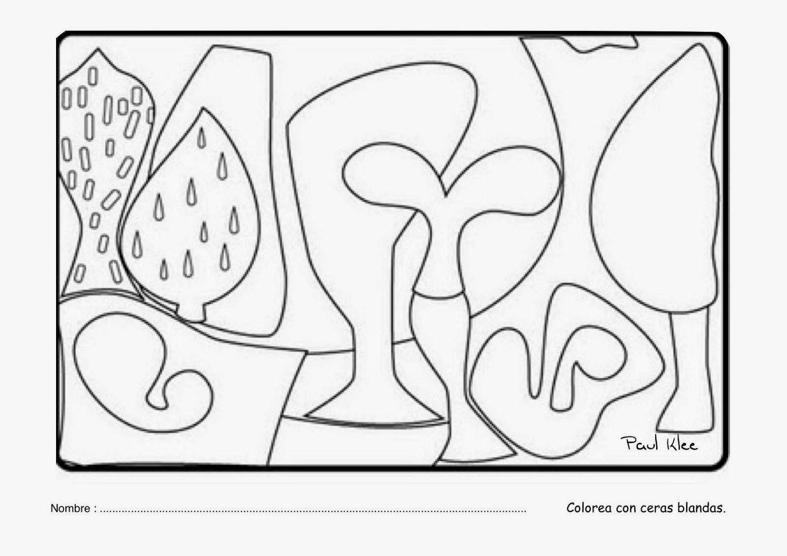 Cuadros de Paul Klee para colorear Landhaus Thomas R. Senecio ...
