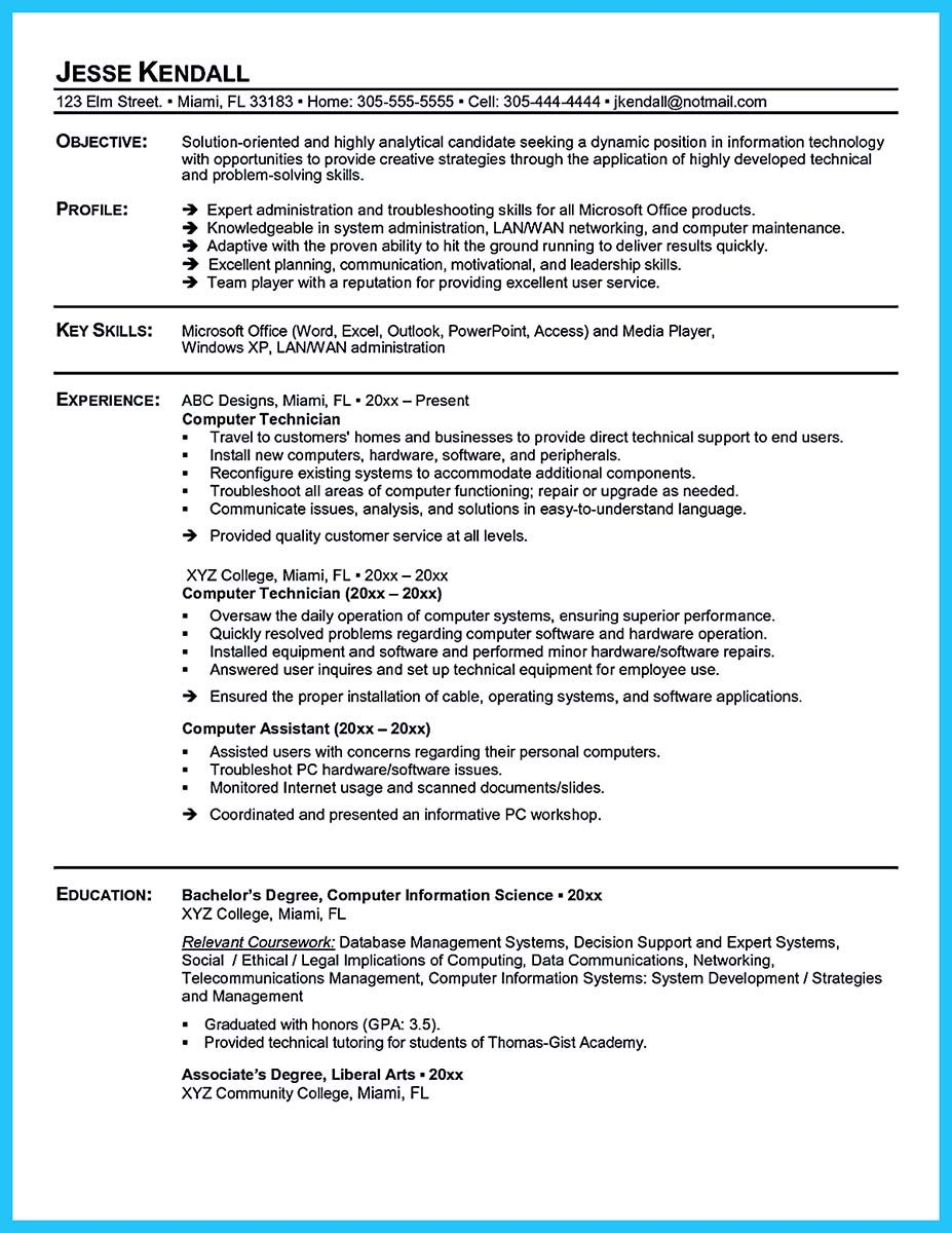 Nice How To Make Cable Technician Resume That Is Really Perfect Check More At Http Snefci Org How To M Resume Skills Resume Examples Resume Objective Sample