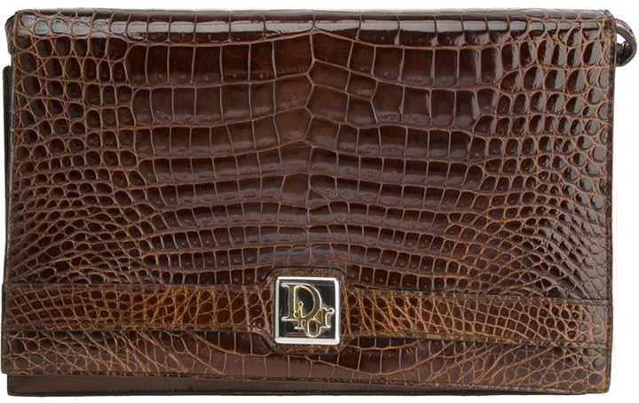 0b11688c9b0 Christian Dior crocodile leather shoulder bag on shopstyle.com ...