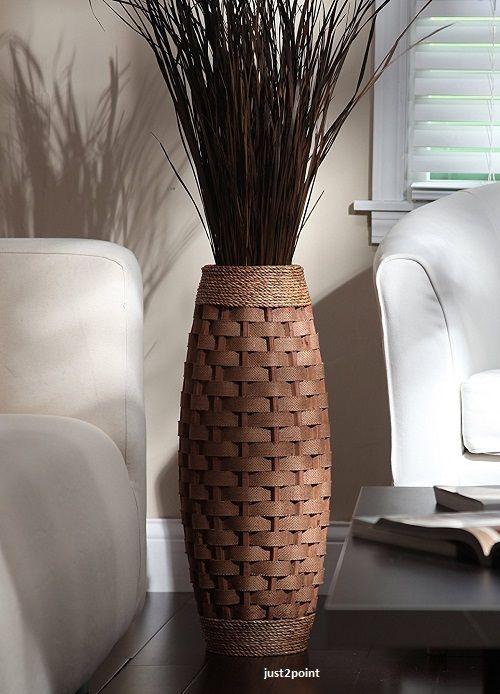 Tall Floor Vase Decorative Large 24 Inch Flower Home Elegant Decor