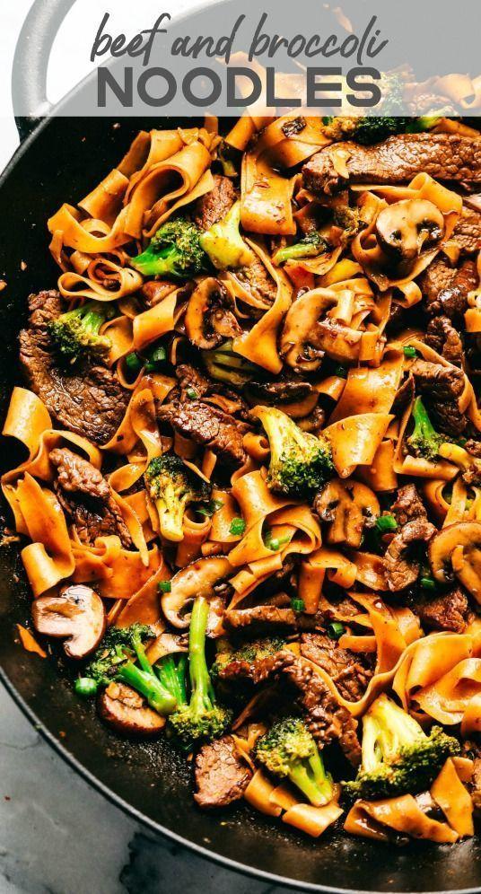 Knoblauch-Rindfleisch und Brokkoli-Nudeln - New Ideas #beefandbroccoli