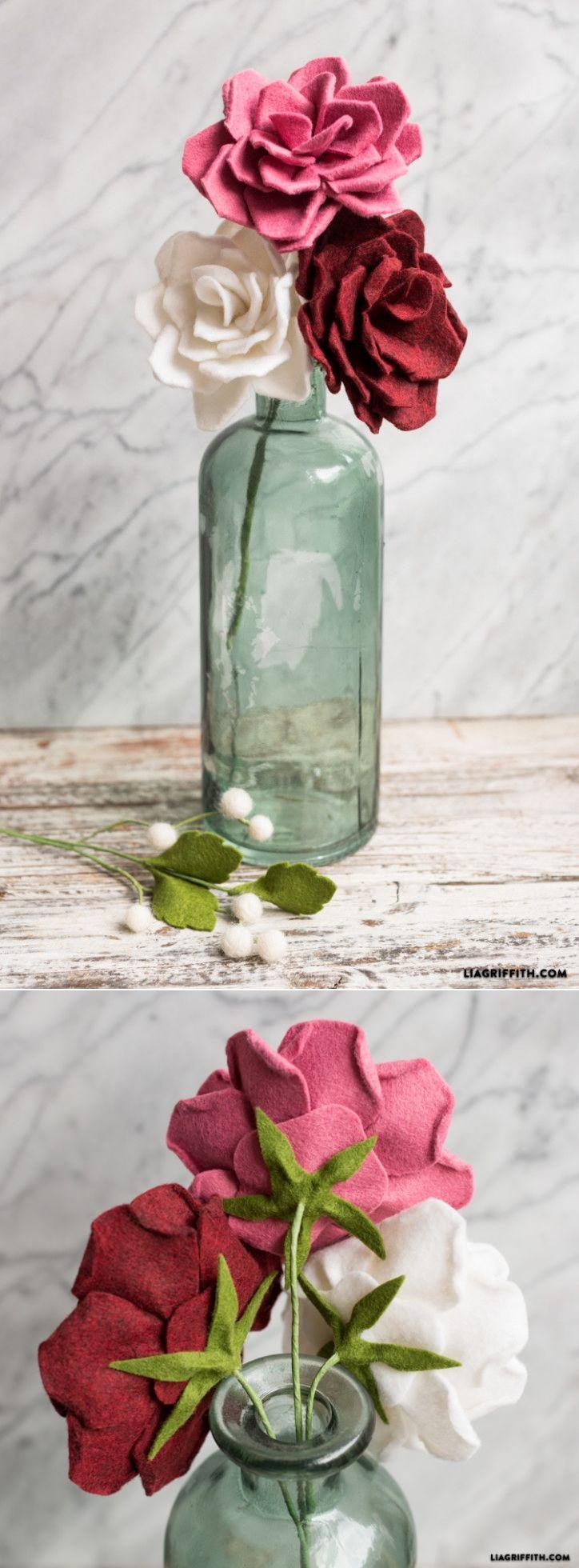 #feltflower #feltrose #feltcraft www.LiaGriffith.com: